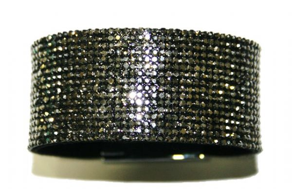 Diamante crystal bling cuff bracelet kit - Hematite -- 5000047kit